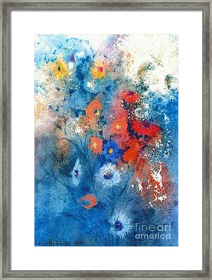 Framed Print featuring the painting Faerie Flowers by Joan Hartenstein