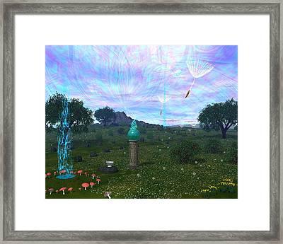 Faerie Led Framed Print by Diana Morningstar