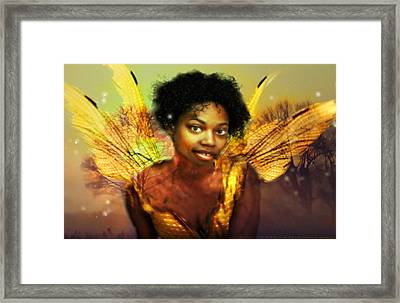 Framed Print featuring the digital art Faery Dawn by Nada Meeks