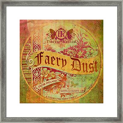 Framed Print featuring the digital art Faery Dust by Nada Meeks