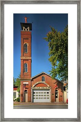 Fair Play Fire Company Framed Print