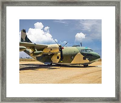Framed Print featuring the photograph Fairchild C-123  by Steve Benefiel