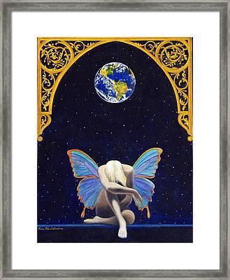 Fairies Lament Framed Print by Cari Von Sternberg