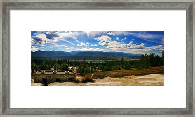 Fairmont Hot Springs Bc Framed Print by JM Photography