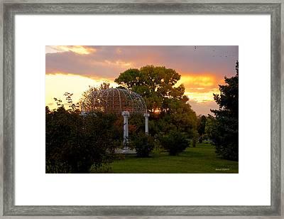 Fairmount Gazebo At Sunset Framed Print by Stephen  Johnson