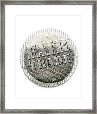 Fairtrade Tea Bag, Artwork Framed Print by Victor Habbick Visions