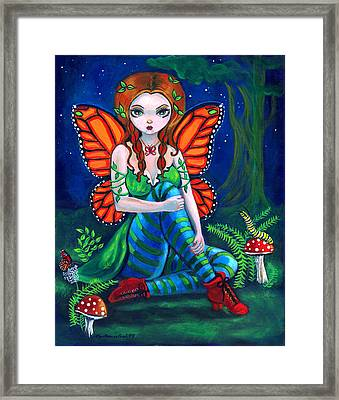 Fairy Monarch Framed Print by Lyn Cook