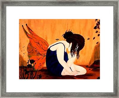 Fairy  Framed Print by Nicole Champion