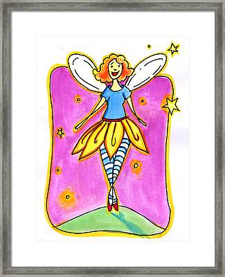 Framed Print featuring the mixed media Fairy Note by Nada Meeks