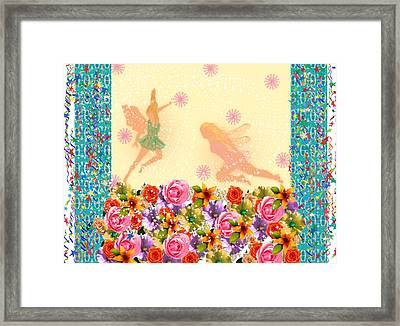 Fairy Play Framed Print by Rosalie Scanlon