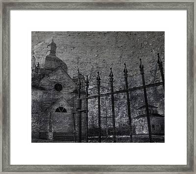 Faith Of Stone  Framed Print by Jerry Cordeiro