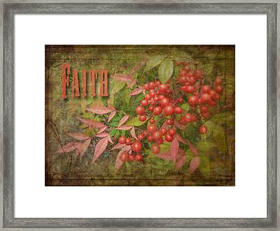 Faith Spring Berries Framed Print by Cindy Wright