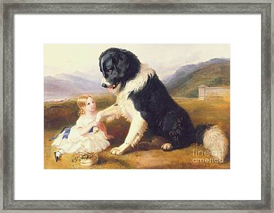 Faithful Friends Framed Print by English School