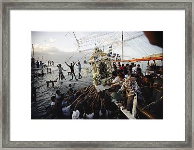 Faithful Residents Reach Framed Print