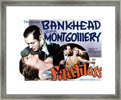 Faithless, Tallulah Bankhead, Robert Framed Print by Everett
