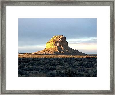 Fajada Butte At Dawn Framed Print