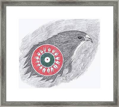 Falcon Spirit With Apache Design Framed Print
