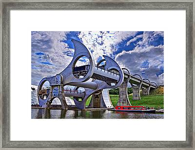 Falkirk Wheel Framed Print by Wendy White