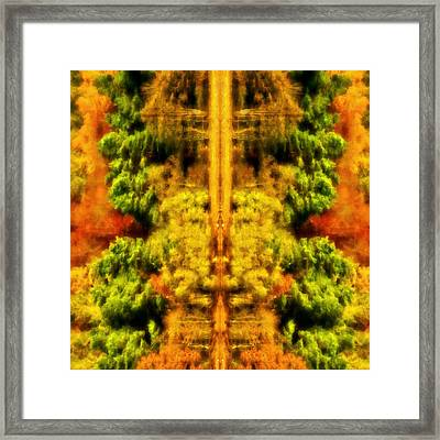 Fall Abstract Framed Print by Meirion Matthias