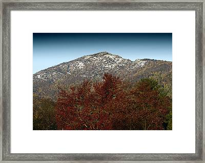 Fall Arrives At Old Rag Mountain - Virginia Framed Print