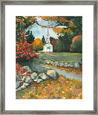 Fall At Martha-mary Chapel - Sudbury Framed Print