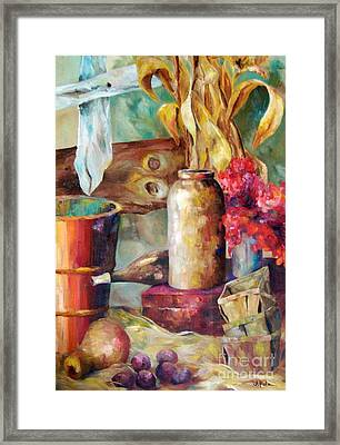 Fall At Ou Framed Print by Judith A Smothers