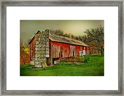 Framed Print featuring the photograph Fall Barn by Mary Timman