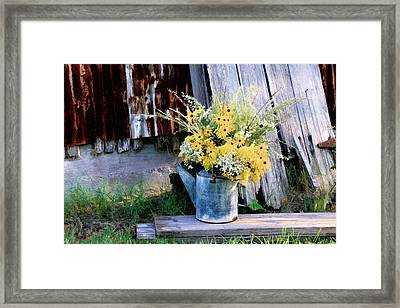 Framed Print featuring the photograph Fall Bouquet by Mary Hershberger