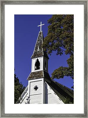 Fall Chapel Framed Print by Ken Stanback