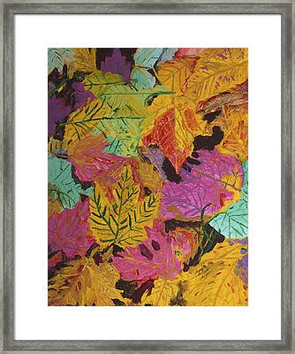 Fall Colors Of Maple Leaves Framed Print