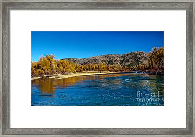 Fall Colors On The Snake River Framed Print by Robert Bales