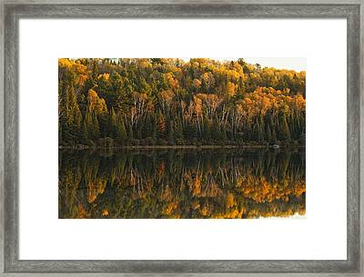 Fall Colors Reflected In The Waters Framed Print by Robert Postma