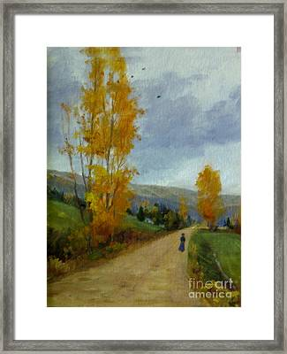 Fall Day Framed Print by Victoria  Broyles