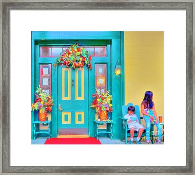 Fall Decorations Framed Print