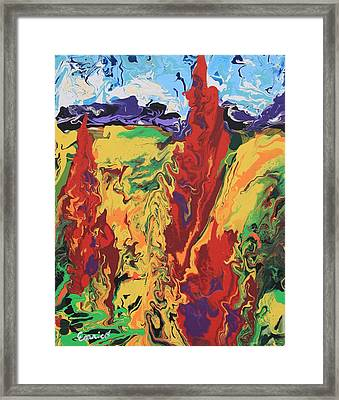 Fall Fandango Framed Print