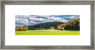 Fall Farm Framed Print