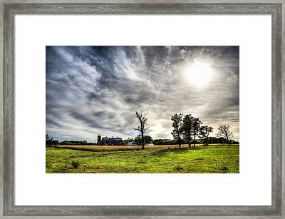 Fall Farm View Framed Print by Dan Crosby