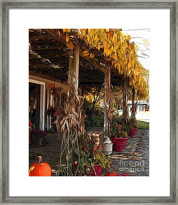 Framed Print featuring the photograph Fall Farmers Market by Anne Raczkowski