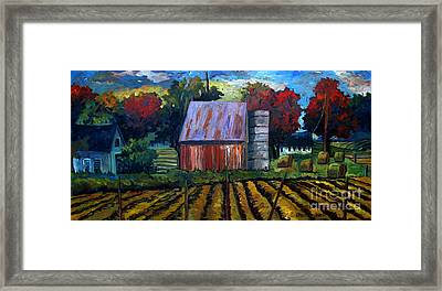 Fall Festival Re-photographed Framed Print by Charlie Spear