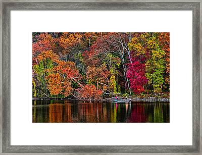 Fall Fishing Framed Print by Boyd Alexander