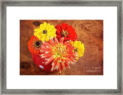 Fall Flower Arrangement Framed Print