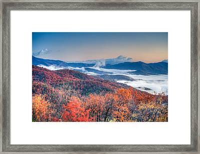 Fall Fog 1 Framed Print