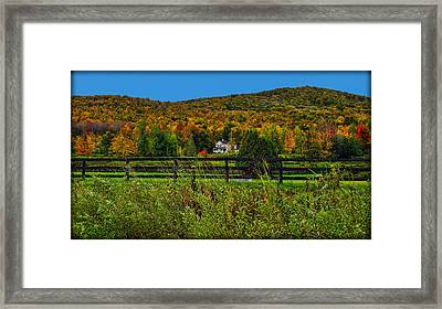 Fall Glory On The Other Side Of The Fence Framed Print by Chantal PhotoPix