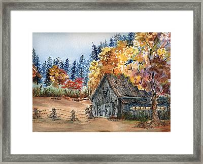 Fall Hide And Seek Framed Print