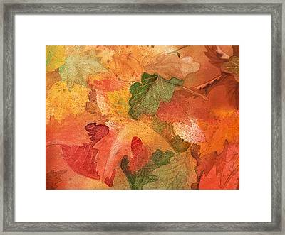 Fall Impressions II Framed Print by Irina Sztukowski
