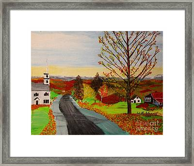 Fall In New Hampshire Framed Print by Bill Hubbard
