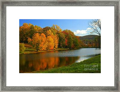 Fall In New York State Framed Print
