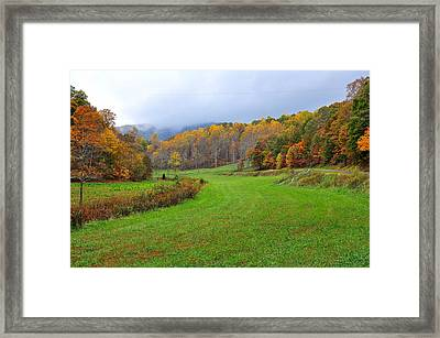 Fall In The Valley Framed Print by Todd Hostetter