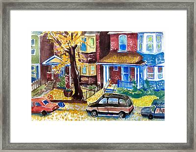 Fall In Toronto Framed Print by Mike N