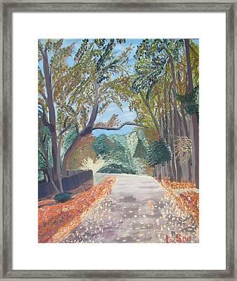 Fall In Tyler Framed Print by Evgeniya Sohn Bearden